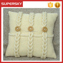 V-513 new design christmas handmade knit home decoration crochet cushion cover knit cable pattern pillow
