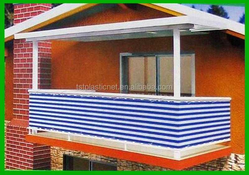 Balcony screen privacy screen sun shade netting balcony for Balcony covering nets