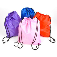 Wholesale pouch polyester drawstring bag for cosmetic/packing/cloth