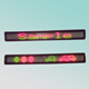 CE RoHS 7X95pixel P7.62mm one line red green yellow three color indoor programmable led moving sign