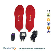 Dr.Warm CE&RoHS approved rechargeable battery operated foot insoles