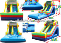 New China guangzhou inflatable water slide with pool for kids