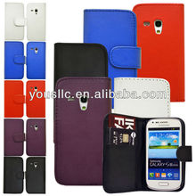 Wallet Flip Pu Leather Mobile Phone Case Cover For Samsung Galaxy S3 Mini i8190