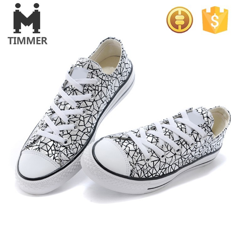 2016 spring new design women stone grained sneakers casual canvas shoes