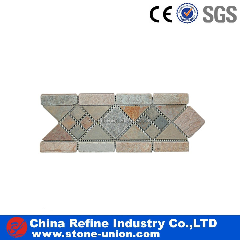 Lowest Price stone mosaic border tiles