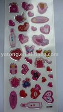girls dressing up crystal stickers