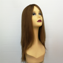 European Human Hair Jewish Kosher Wigs Big Layer with 4 by 4 Silk Top