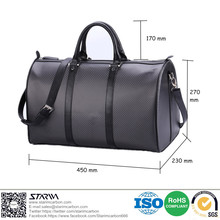 Light weight leather carbon fiber bag customized style/color/logo