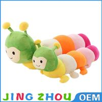 Children soft toys big colorful plush carpenterworm stuffed animal doll for kid