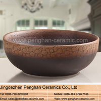Jingdezhen traditional handmade bathroom art basin sink toilet wash basin
