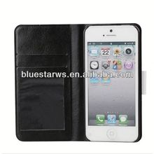 2014 new design for i phone5 wallet leather case
