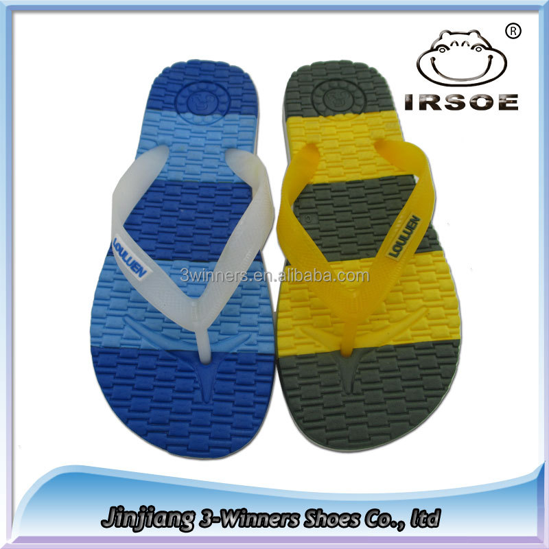 2015 New model PVC and EVA slippers stock wholesale Men beach slippers