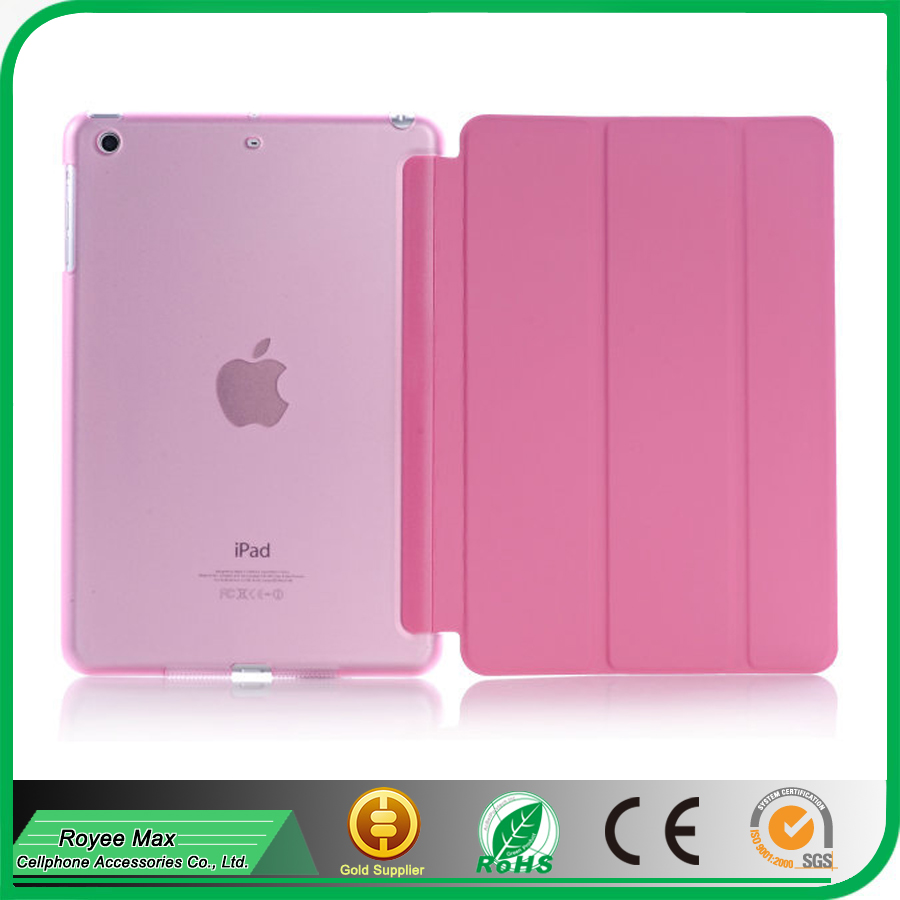pc+leather stand protector slim case cover for ipad mini