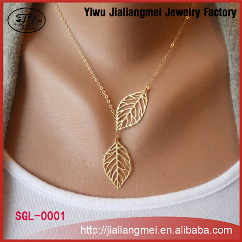 2015 Hot New Vintage Big Leaf Clavicle Short Personality Gold Chain Choker Necklace