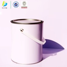 Factory price round 4l tin paint can decorative round tin cans with lids tall round tin can