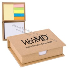 Promotional Note Pad case/Eco Recycled Sticky Note Memo Case/personalized sticky note case