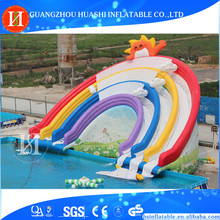 Cheap prices hot summer giant inflatable water land park with slide and pool for sale