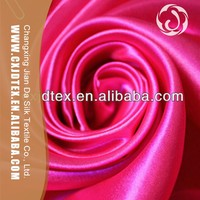 China supplies cheap polyester blended fabric heavy dull satin
