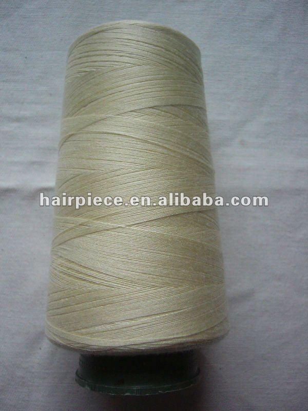 Hair extension tool weaving thread