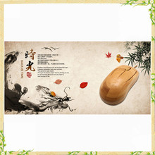 Promotional items china natural bamboo Cheap wired mouse