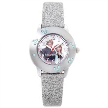 custom printed children wrist watches promotion watch with colorful PU leather strap