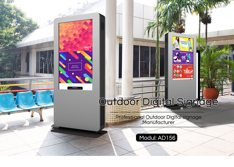 "55"" Outdoor LCD Android Advertising Totem display screen ad player"