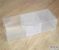 Eco friendly transparent sleeve plastic box