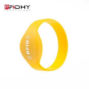 HYWGJ03 NTAG216 RFID NFC Waterproof Silicone Wristband