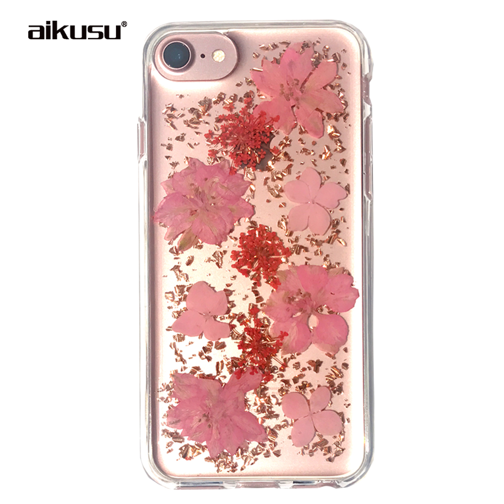 DIY real dry / dried pressed flower fashion girls ladies phone case for iphone / i phone /samsaung