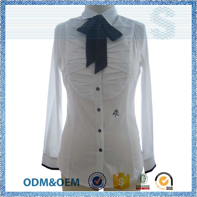 quick delivery time promotional princess cutting blouse