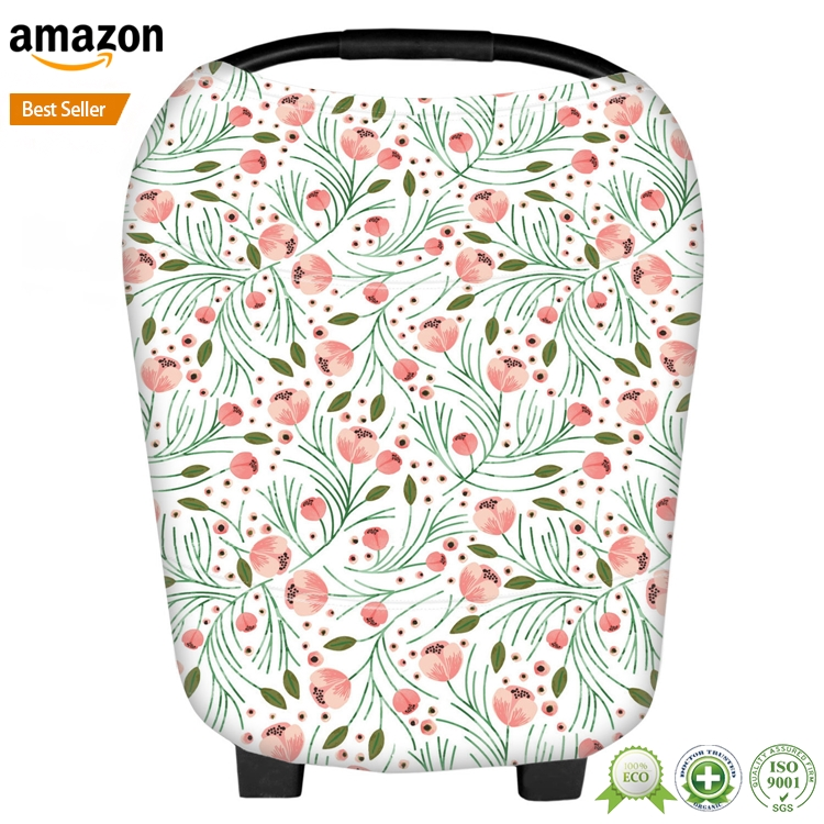 Multi-Use Stretchy Infant Baby Car Seat Cover Canopy And Nursing cover