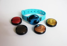 Waterproof Wearable ibeacon Wrist band with Button Bluetooth ibeacon OEM/ODM