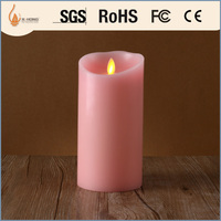 fantastic decoration led flameless pink candles
