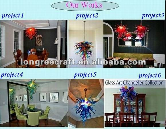 White Blown Glass Art Decoration