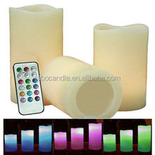 fashion 18 keys moon candles wheatherproof color changing candles with RC products