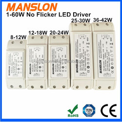 Manslon no flicker LED driver 60W 100W constant current 1500mA to replace Moso LED driver