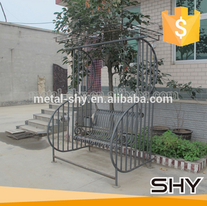 china factory outdoor garden wrought iron swing