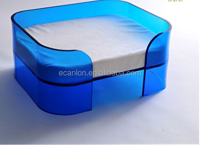 Custom lucite acrylic pet dog bed