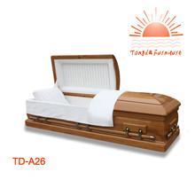 TD--A26 Wholesale MDF Veneer wooden caskets for funeral use