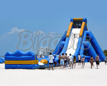 125ft Giant Single Lane Inflatable Hippo Jumbo Water Slide For Sale