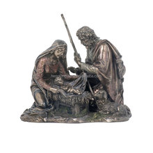 Religious life size bronze holy family statue reproduction