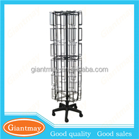 Supermarket&store postcard metal floor display stand, gift cards display stand