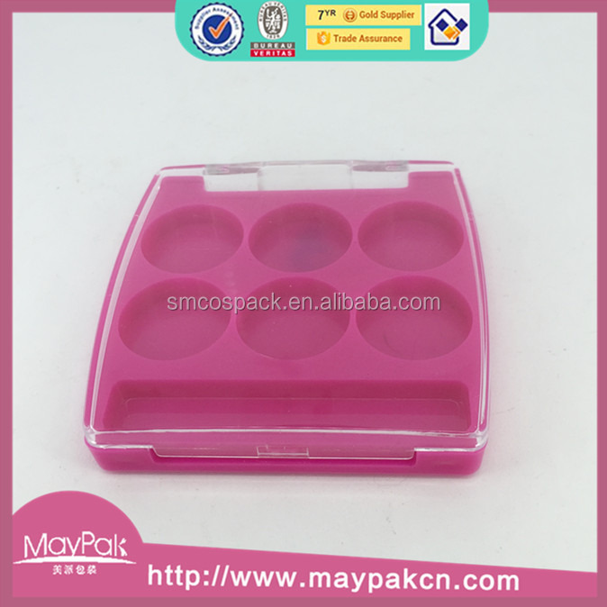 Wholesale empty powder eye compact with mirror