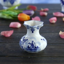Delft blue hand painted ceramic flower home decoration vase
