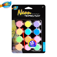 Best Selling 12*5ml Non-toxic Wholesale Neon Tempera Paint Sets Cheap Portable Kids&Artists A0258