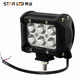 12v/24v led off road 4x4 mini 18w led light bar for cars 4 inch led work light