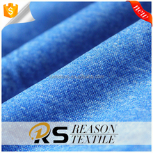 Shaoxing factory direct sale 100 polyester knit jersey fabric cationic polyester fabric