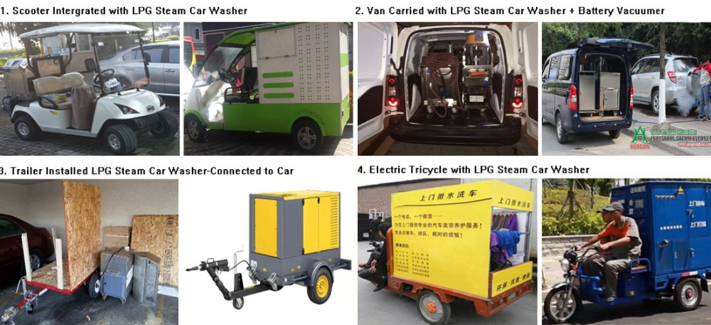 LPG Steam Car Washer in Shop