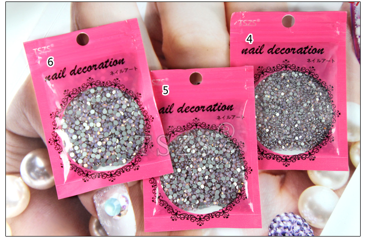 Professional Nail Salon Products Many Colors Glass Rhinestone Crystal Sticker