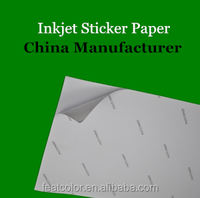 Top quality inkjet glossy a4 self adhesive paper photo paper for inkjet photo printing